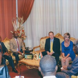 Private meeting with Abidjan Governor, 15th September 2015