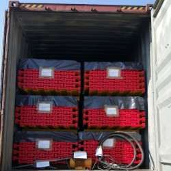 Props, h-beams and much more: other containers sent to Ethiopia