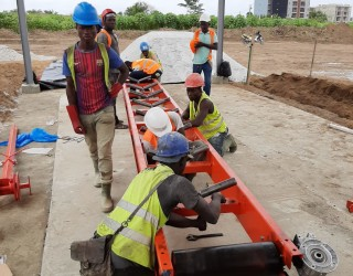Block making plant installation in the Ivory Coast