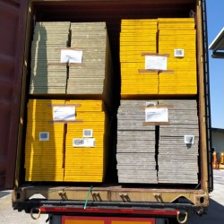 Containers headed to the Ivory Coast